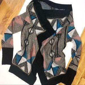 🆕 JACK / western aztec print open cardigan